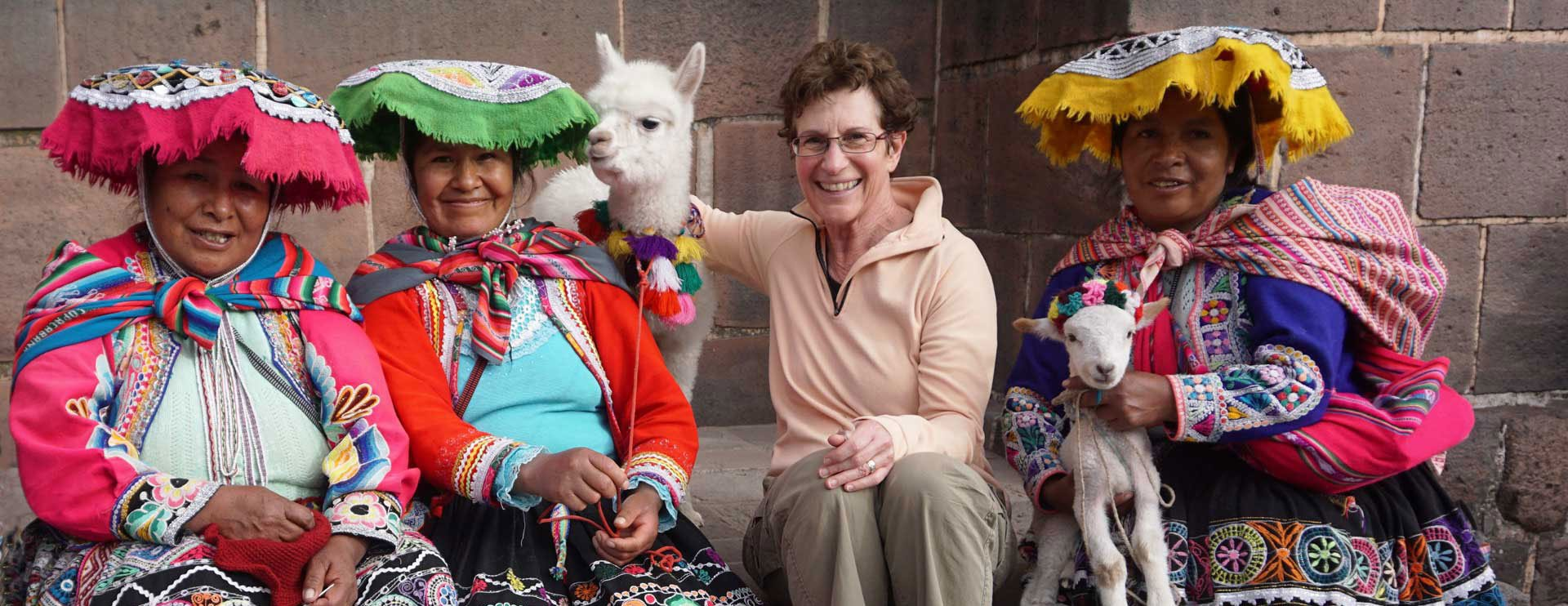 Tourist with Peruvian Ladies