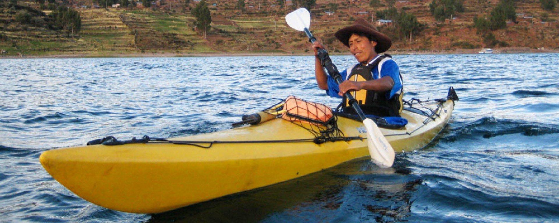 Sea kayaking Titicaca