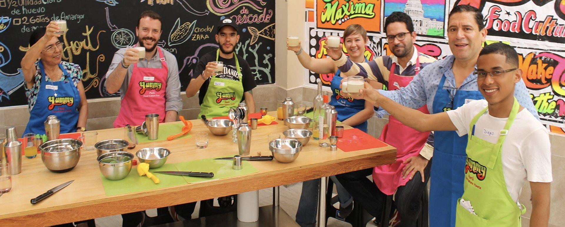 Peruvian cooking class pisco