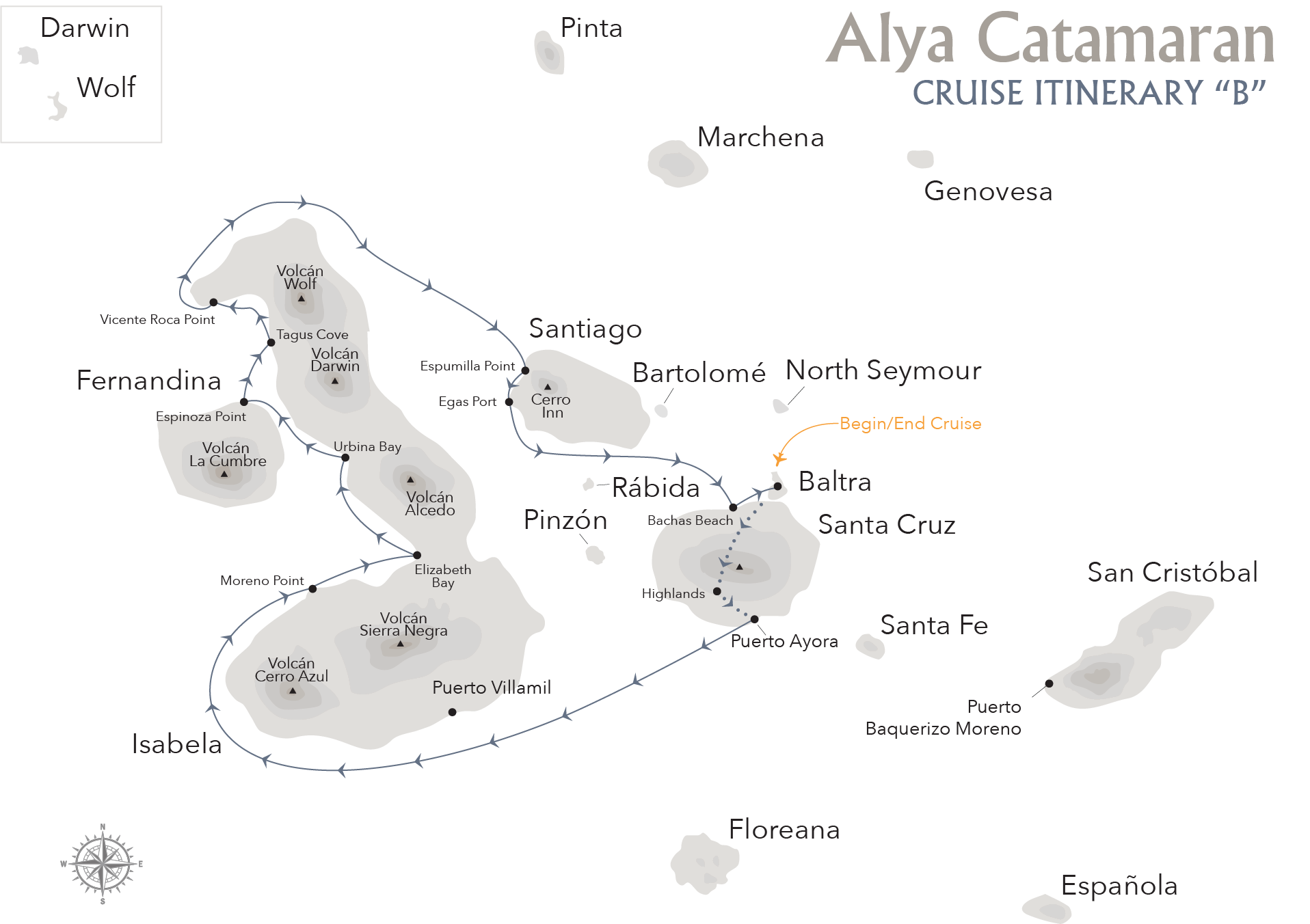 CLOUD FOREST & ALYA LUXURY CATAMARAN ROUTE ITINERARY