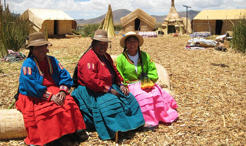 Lake titicaca Taquile women