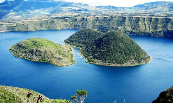 Lake Cuicocha volcano