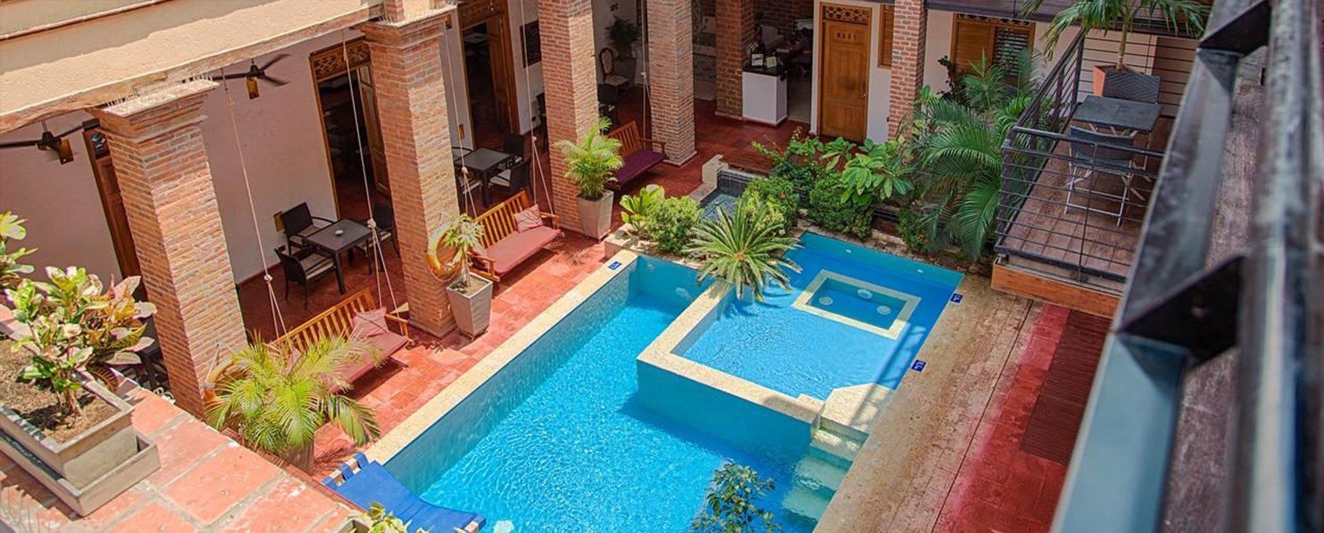 Casa carolina Hotel Pool area