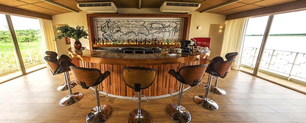 Peru Cruise Delfin III Luxury Amazon River Main Deck Bar Area