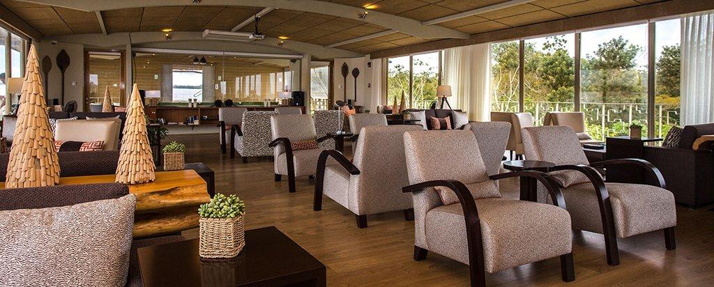 Peru Cruise Delfin III Luxury Amazon River Main Deck Lounge