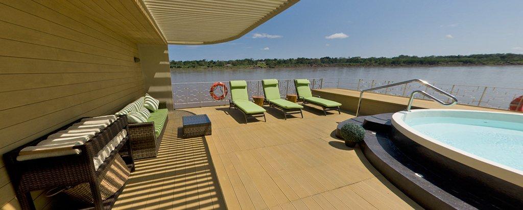 Peru Cruise Delfin III Luxury Amazon River Sun Deck