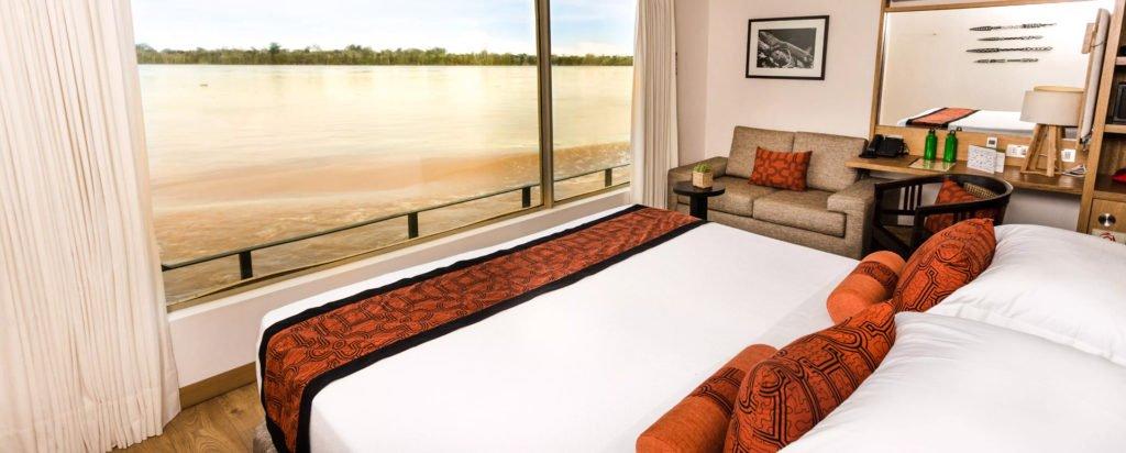 Peru Cruise Delfin III Luxury Amazon River Upper Suite Couple Cabin