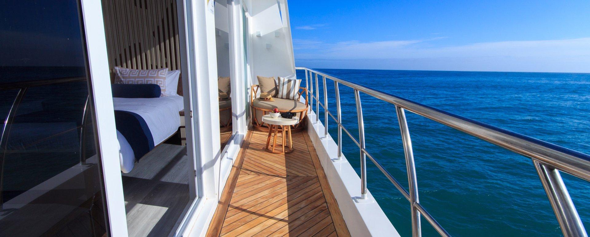 Galapagos Elite Catamaran balcony