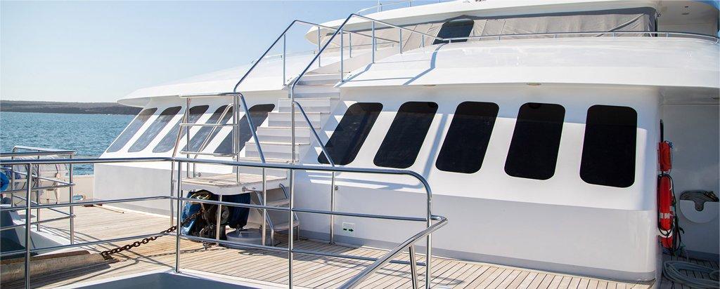 Galapagos Cruise Alya Catamaran Bridge