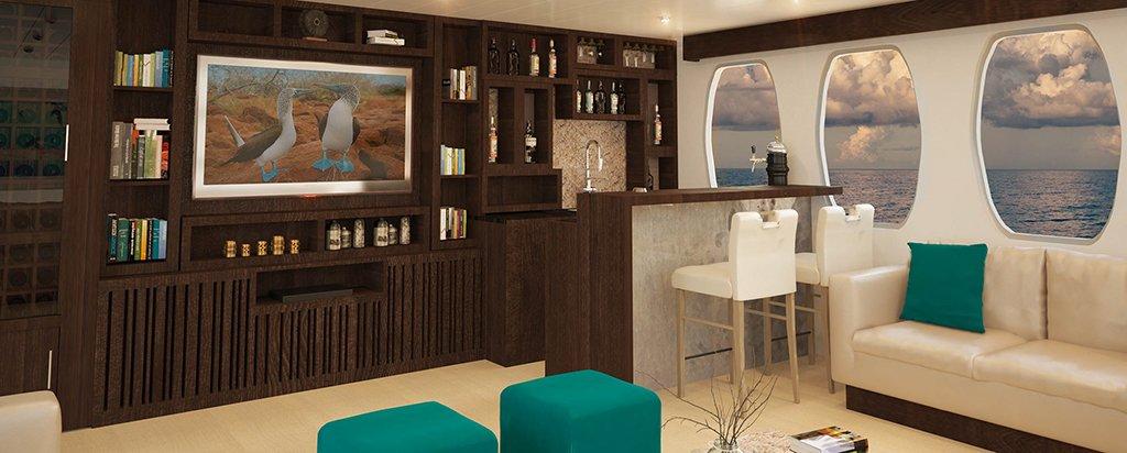 Galapagos Cruise Alya Catamaran Lounge