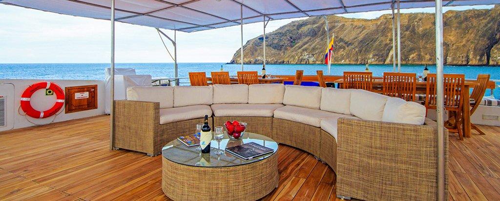Galapagos Cruise Archipel I Catamaran Sun Deck Lounge