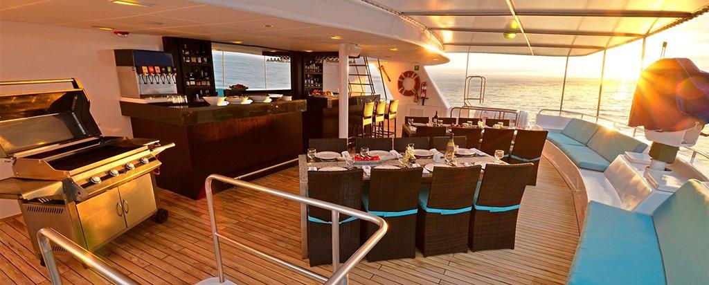 Galapagos Cruise Athala Catamaran Al Fresco Dining