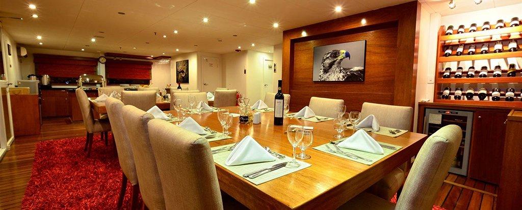Galapagos Cruise Athala Catamaran Dining