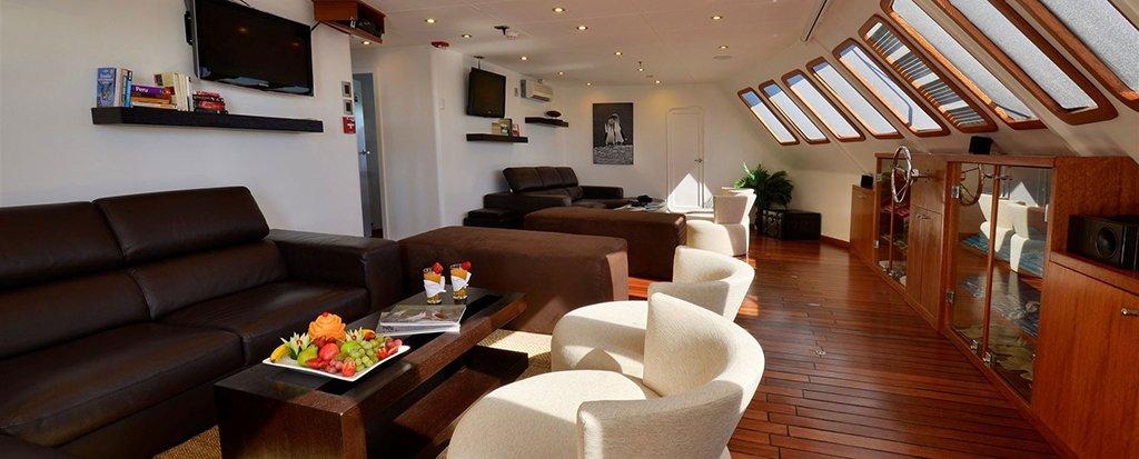 Galapagos Cruises Athala Catamaran Lounge