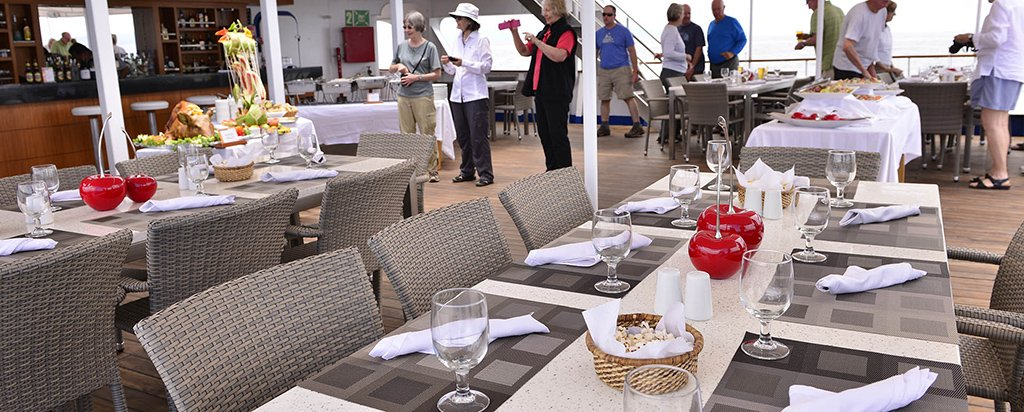 Galapagos Cruise Xperience Luxury Small Ship Al Fresco Dining Area