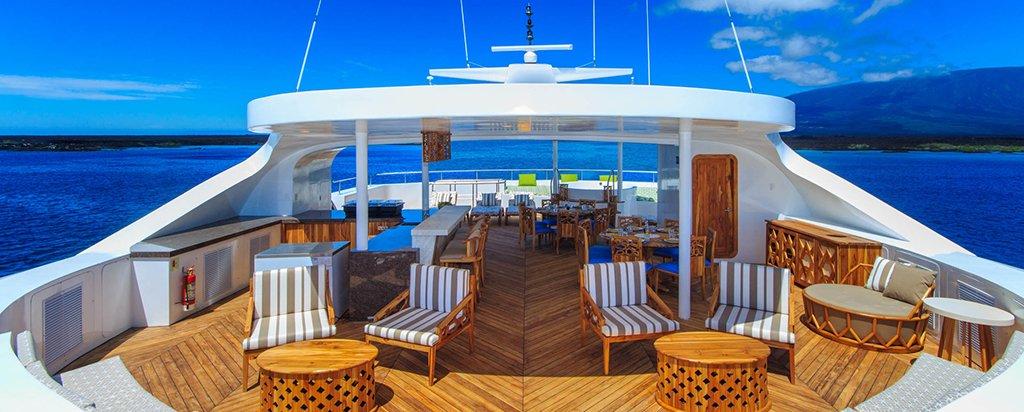 Galapagos Cruise Elite Catamaran Al fresco Dining Area