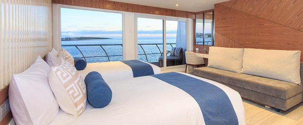 Galapagos Cruise Elite Catamaran Twin Golden Suite Cabin