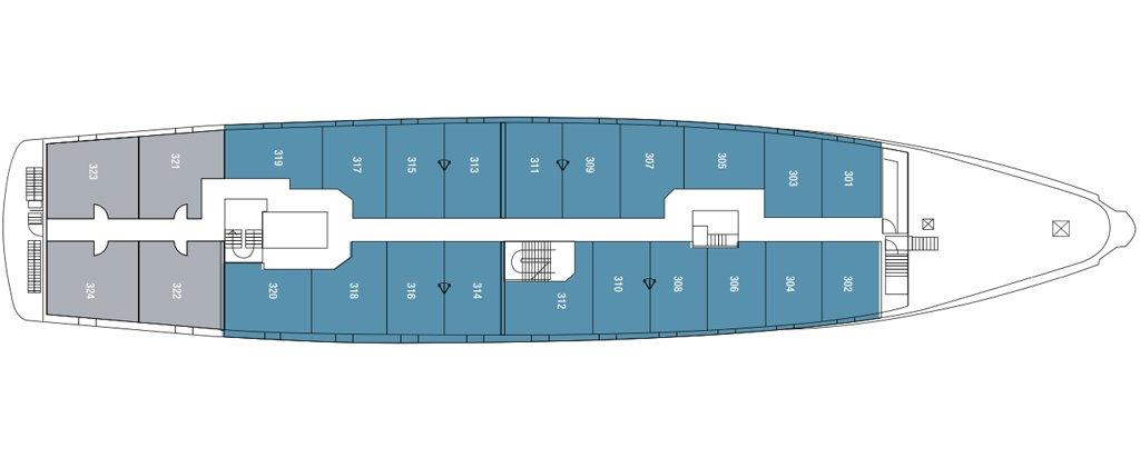 Galapagos Cruise La Pinta Yacht Upper Deck