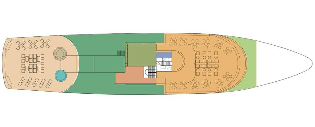 Galapagos Cruise La Pinta Yacht Sun Deck