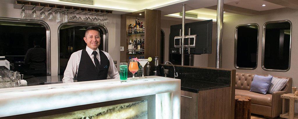 Galapagos Cruise MV Origin Bar Area