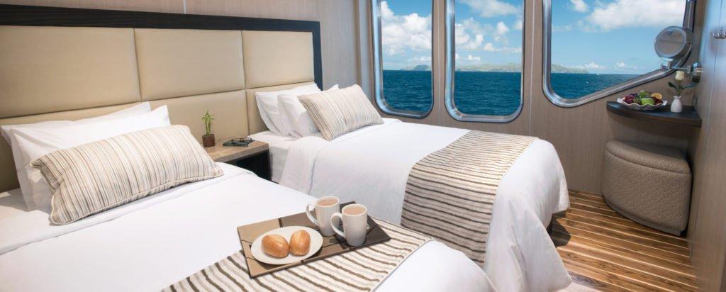 Galapagos Cruise MV Origin Deluxe Stateroom Twin Cabin