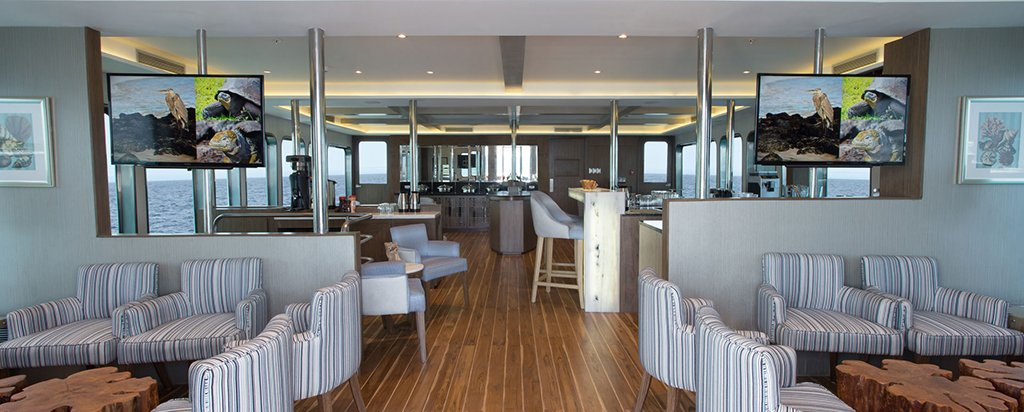 Galapagos Cruise MV Origin Main Deck Dining Area