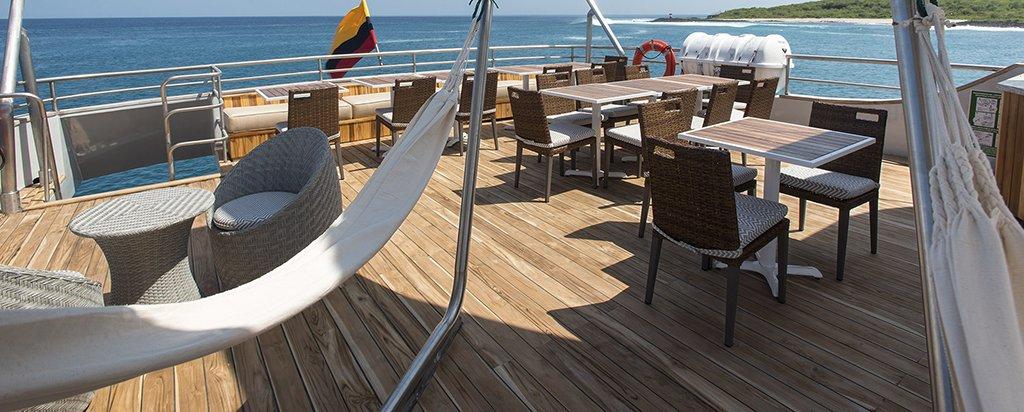 Galapagos Cruise MV Origin Al Fresco Dining Area