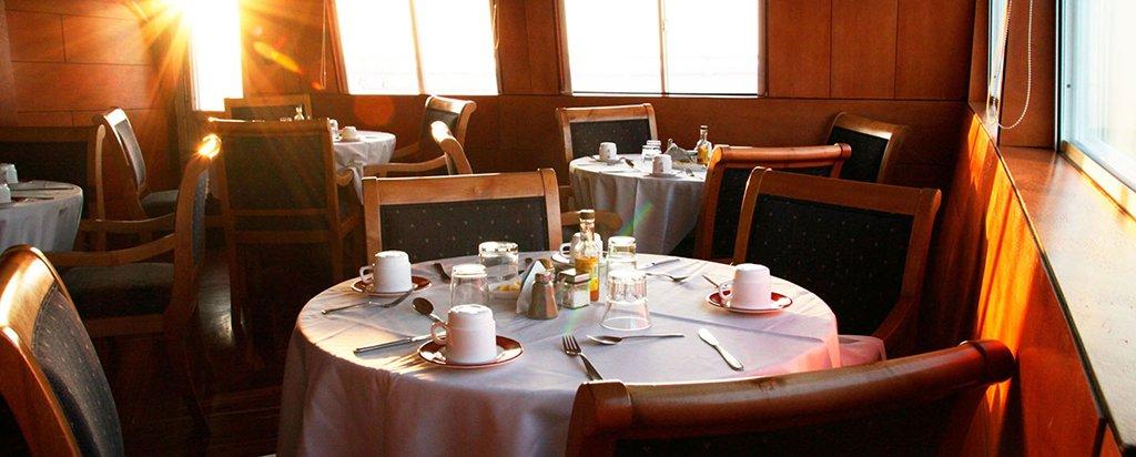 Galapagos Cruise Millennium Catamaran Main Deck Dining