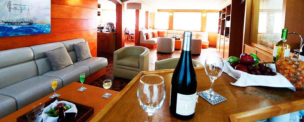 Galapagos Cruise Millennium Catamaran Main Deck Lounge