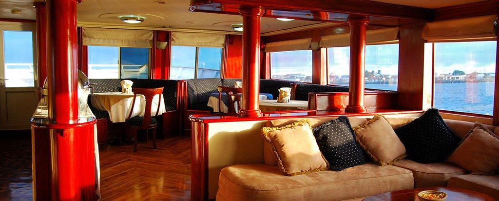 Galapagos Cruise Millennium Catamaran Social Area