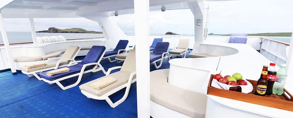 Galapagos Cruise Millennium Catamaran Sun Deck