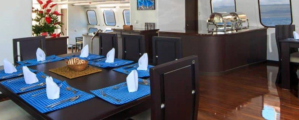 Galapagos Cruise Natural Paradise Main Deck Dining Area