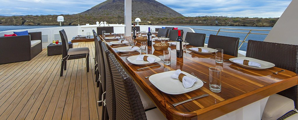 Galapagos Cruise Natural Paradise Al Fresco Dining Area