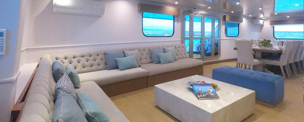Galapagos Cruise Seaman Journey Main Deck Lounge
