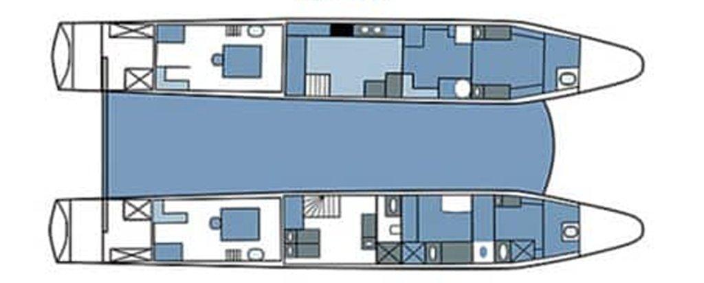 Galapagos Cruise Seaman Journey Lower Deck