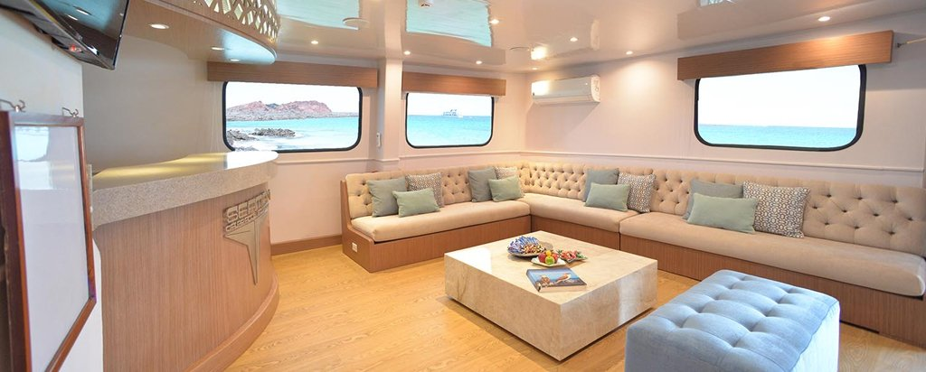 Galapagos Cruise Seaman Journey Social Area