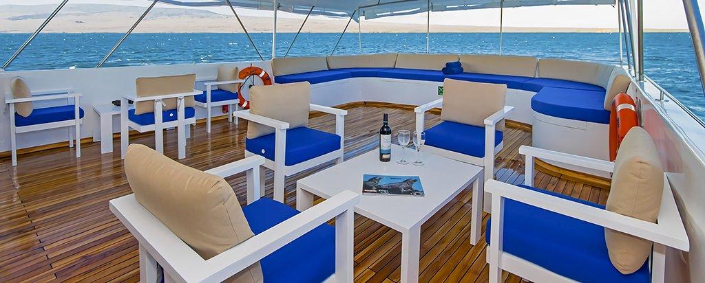 Galapagos Cruise Tip Top II Catamaran Exterior Lounge