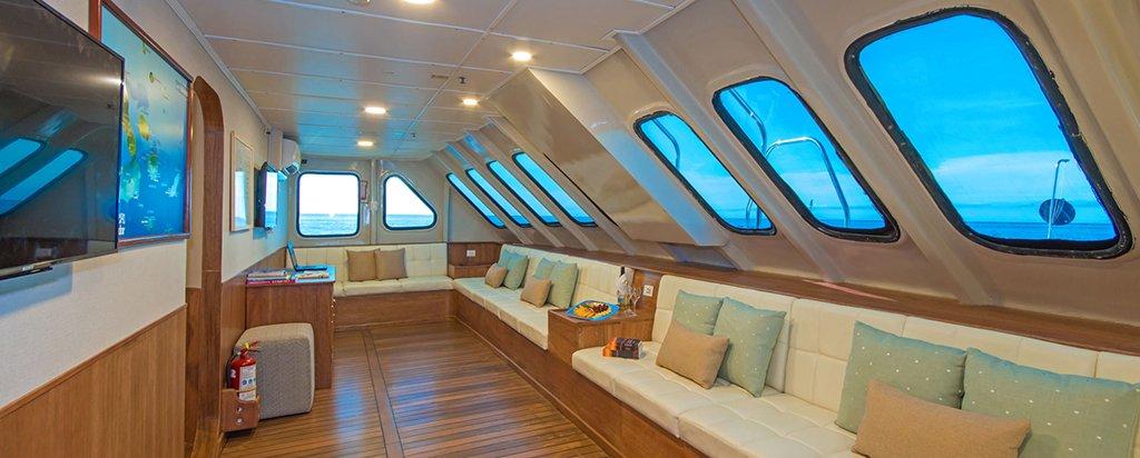 Galapagos Cruise Tip Top II Catamaran Main Deck Lounge