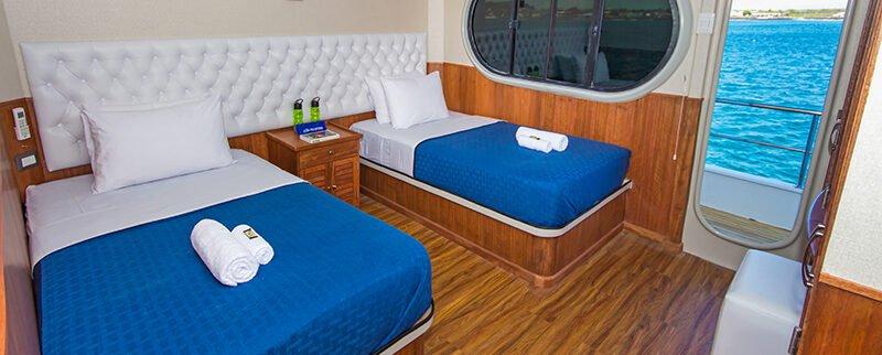 Galapagos Cruise Tip Top II Catamaran Upper Deck Twin Cabin