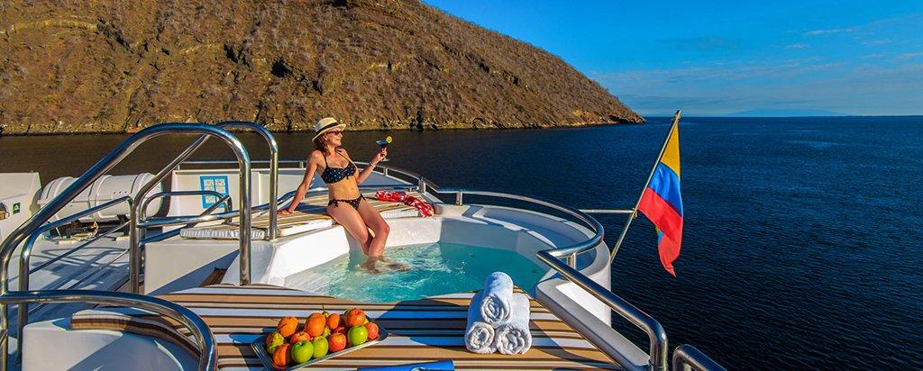 Galapagos Cruise Treasure Catamaran Hot Tub