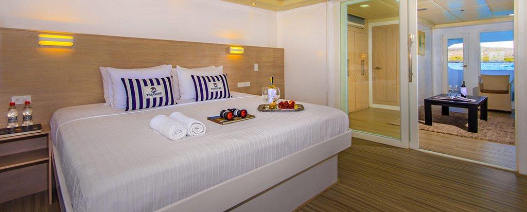 Galapagos Cruise Treasure Catamaran Master Suite Couple Cabin