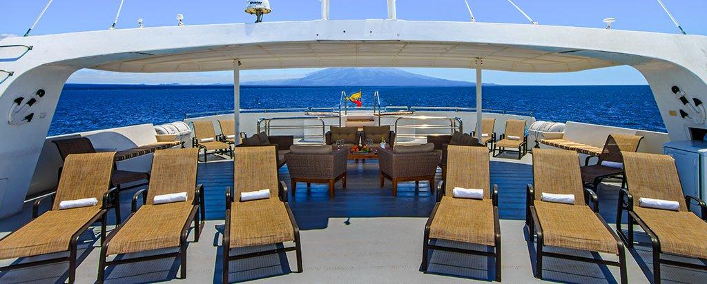 Galapagos Cruise Treasure Catamaran Sun Deck