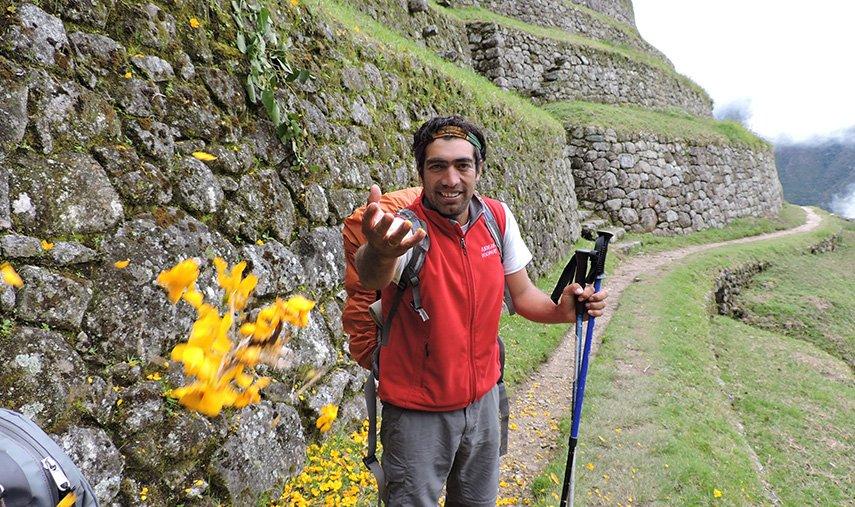 Elias at Inca trail