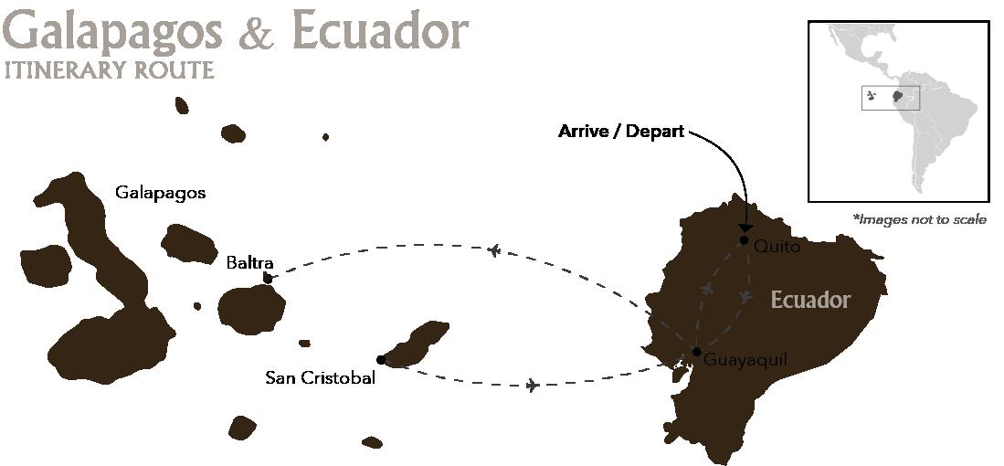 Galapagos & Ecuador Quito Baltra Cristobal Quito Itinerary Route
