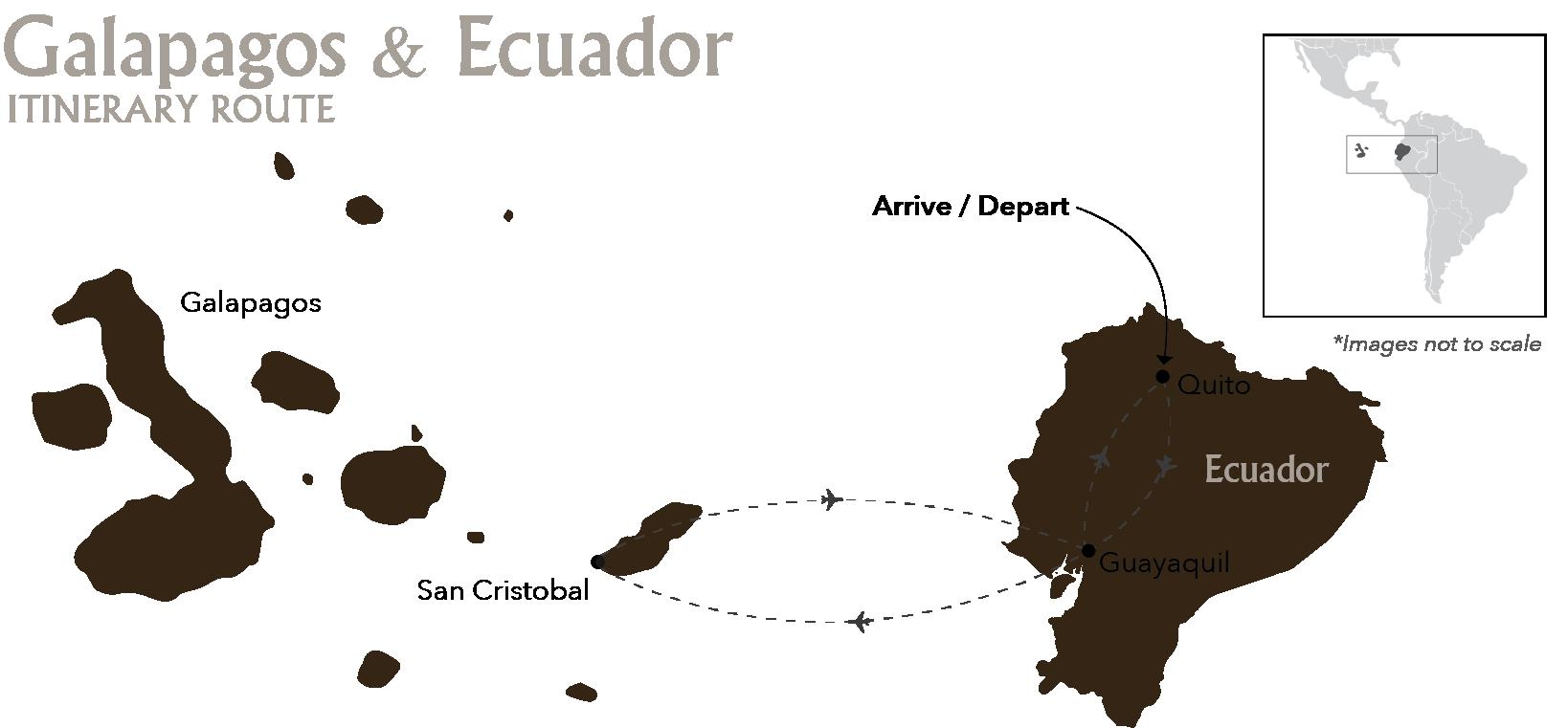 Galapagos & Ecuador Cruises San Cristobal Quito Itinerary Route